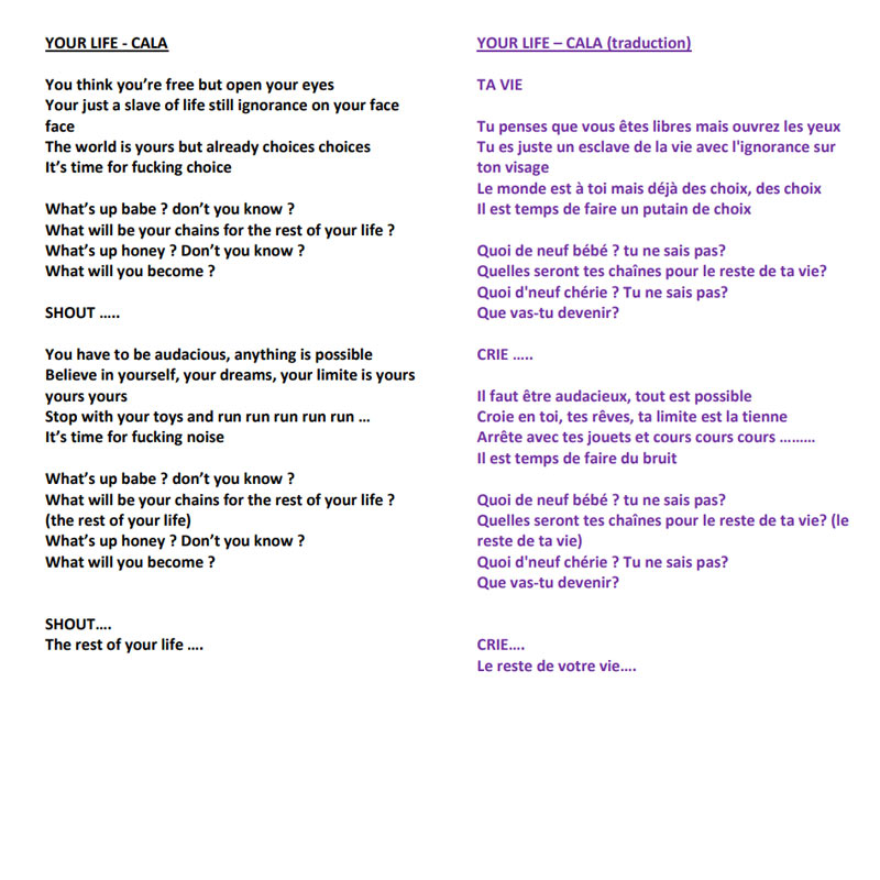 YOUR LIFE - Lyrics and Translation